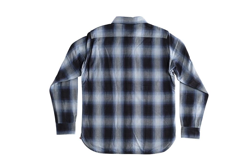 Iron Heart 9oz Selvedge Ombre Check Work Shirt - Indigo - Image 12