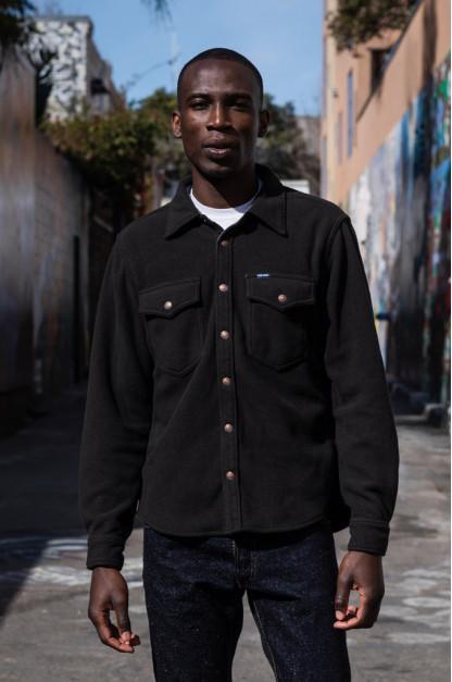 Iron Heart Micro Fleece CPO Shirt - Cozy Time Black