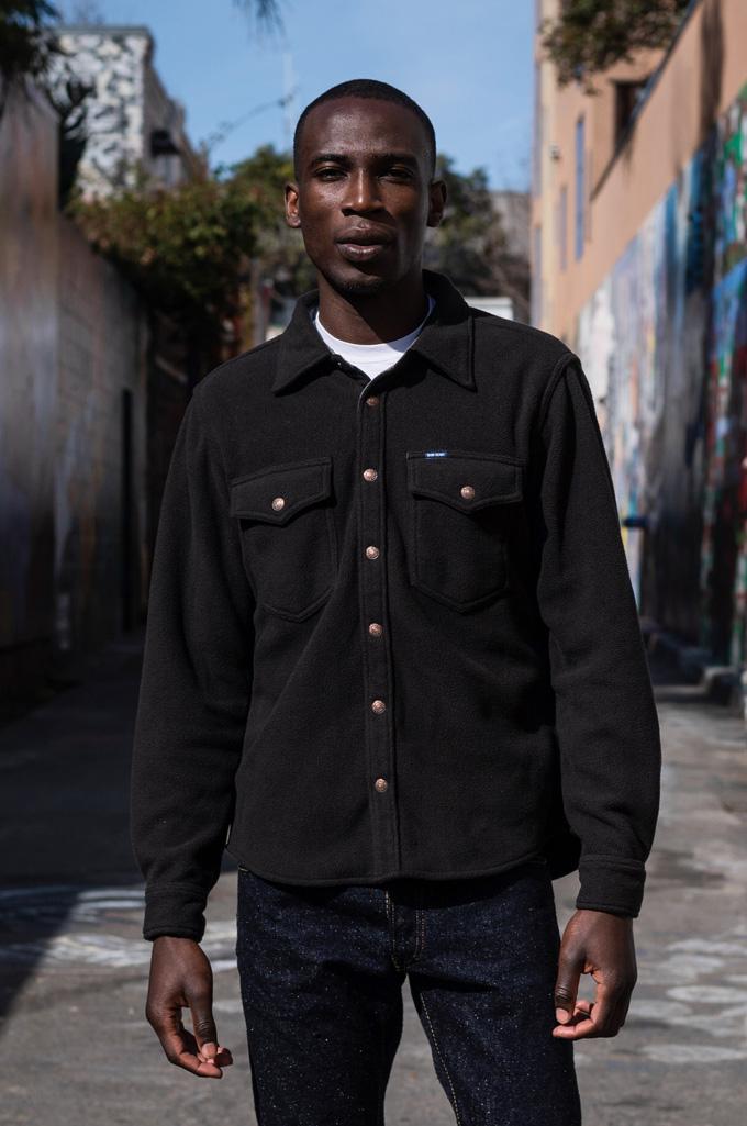 Iron Heart Micro Fleece CPO Shirt - Cozy Time Black - Image 0