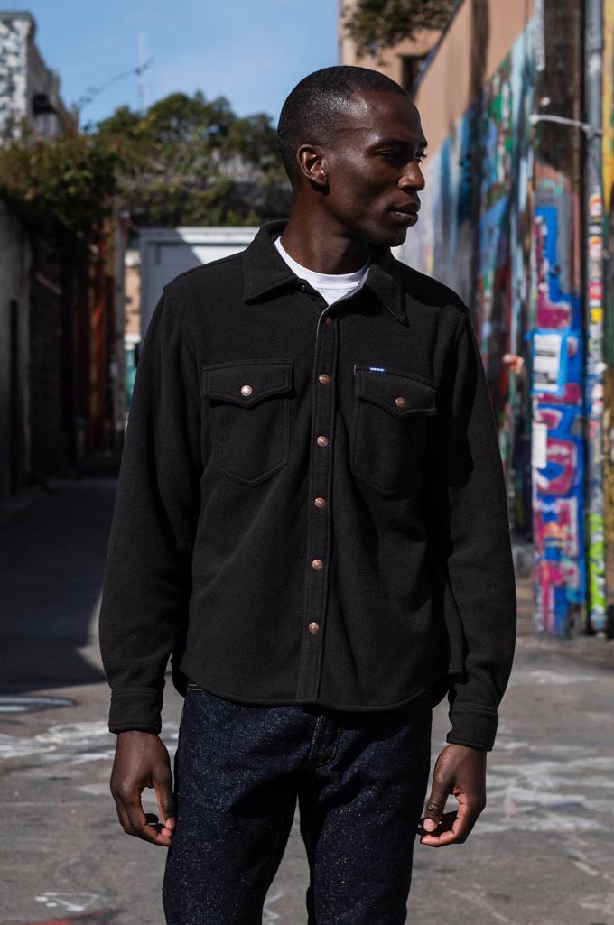 Iron Heart Micro Fleece CPO Shirt - Cozy Time Black - Image 1
