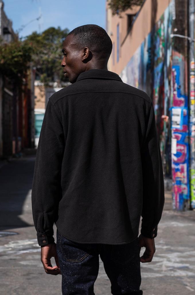 Iron Heart Micro Fleece CPO Shirt - Cozy Time Black - Image 4
