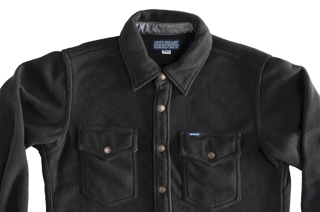 Iron Heart Micro Fleece CPO Shirt - Cozy Time Black - Image 8