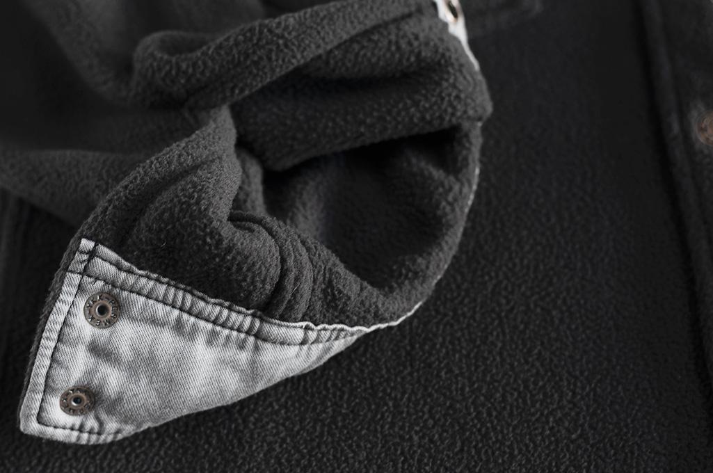 Iron Heart Micro Fleece CPO Shirt - Cozy Time Black - Image 12