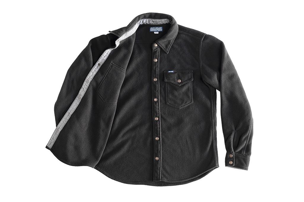 Iron Heart Micro Fleece CPO Shirt - Cozy Time Black - Image 13