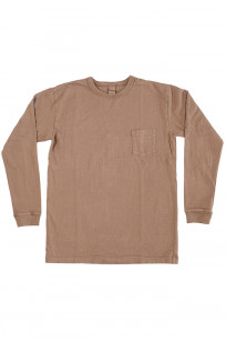 3sixteen Garment Dyed Long Sleeve T-Shirt - Clove - Image 0