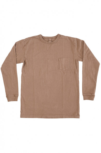 3sixteen Garment Dyed Long Sleeve T-Shirt - Clove