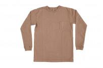 3sixteen Garment Dyed Long Sleeve T-Shirt - Clove - Image 2