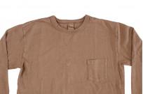 3sixteen Garment Dyed Long Sleeve T-Shirt - Clove - Image 3