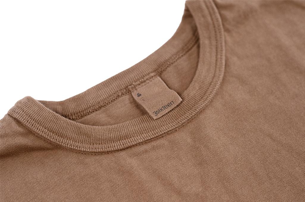 3sixteen Garment Dyed Long Sleeve T-Shirt - Clove - Image 4