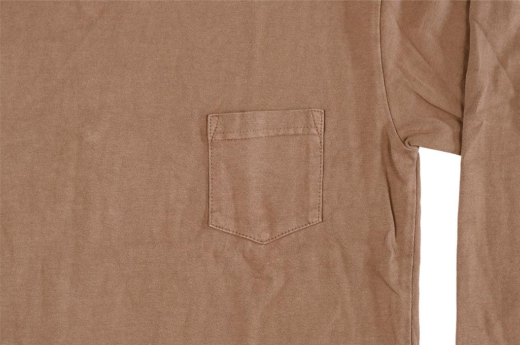 3sixteen Garment Dyed Long Sleeve T-Shirt - Clove - Image 5
