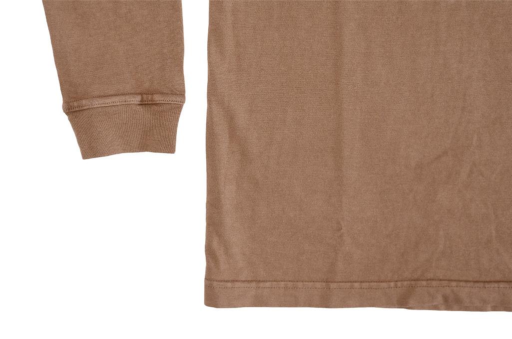 3sixteen Garment Dyed Long Sleeve T-Shirt - Clove - Image 6