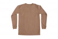 3sixteen Garment Dyed Long Sleeve T-Shirt - Clove - Image 7