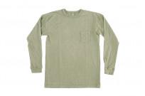 3sixteen Garment Dyed Long Sleeve T-Shirt - Military Green - Image 2