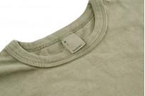 3sixteen Garment Dyed Long Sleeve T-Shirt - Military Green - Image 4