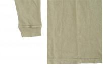 3sixteen Garment Dyed Long Sleeve T-Shirt - Military Green - Image 5