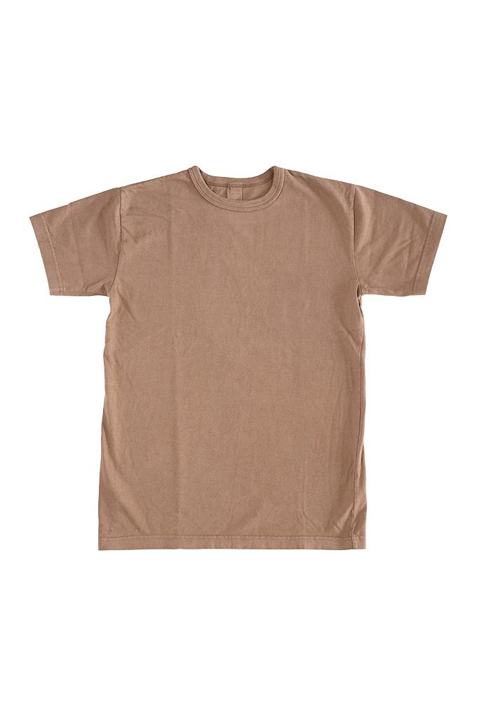 3sixteen Garment Dyed Plain T-Shirt - Clove - Image 0