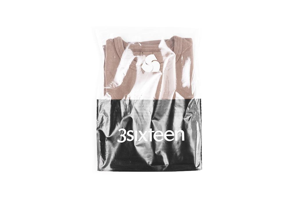 3sixteen Garment Dyed Plain T-Shirt - Clove - Image 1