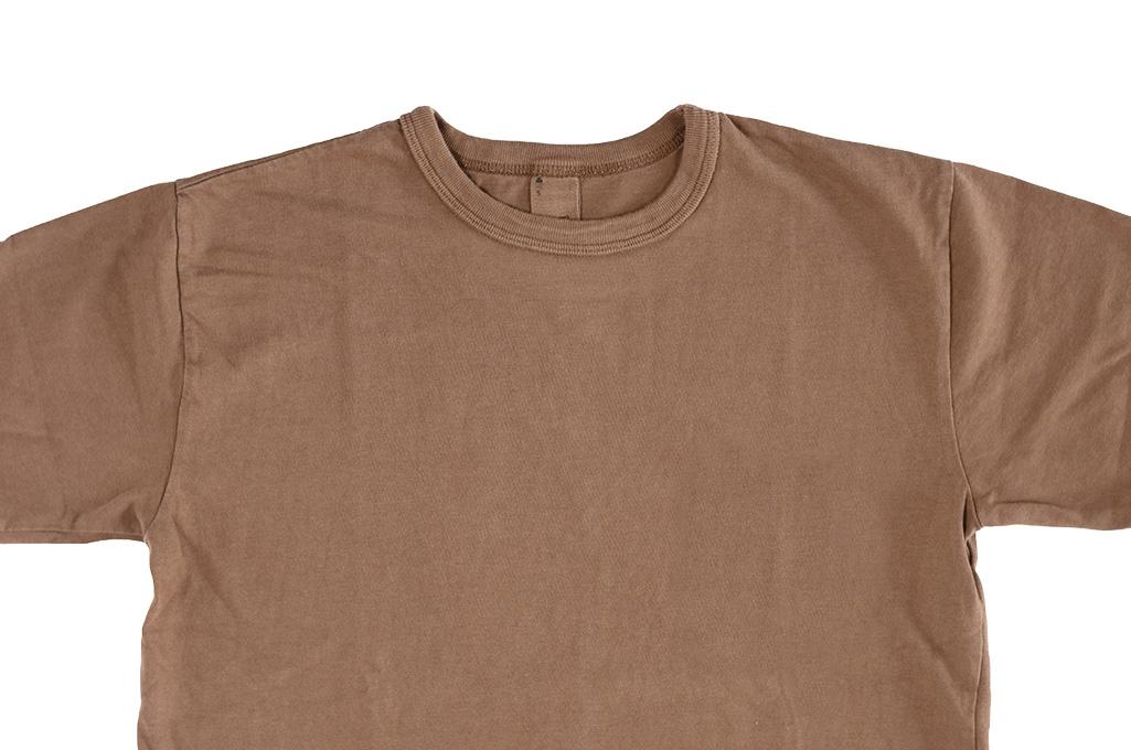 3sixteen Garment Dyed Plain T-Shirt - Clove - Image 3