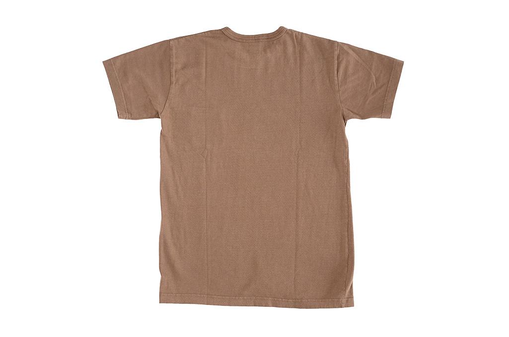 3sixteen Garment Dyed Plain T-Shirt - Clove - Image 6