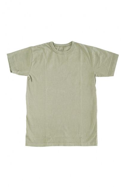 3sixteen Garment Dyed Plain T-Shirt - Military Green