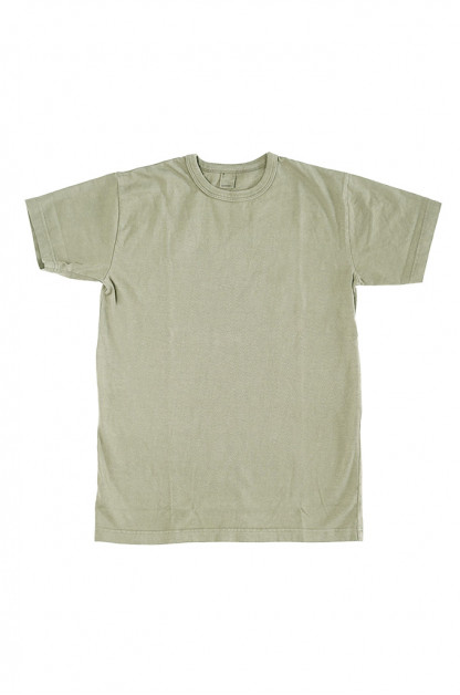 3sixteen Garment Dyed Plain T-Shirt - Military Green