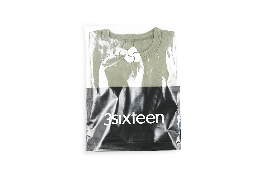 3sixteen Garment Dyed Plain T-Shirt - Military Green - Image 1