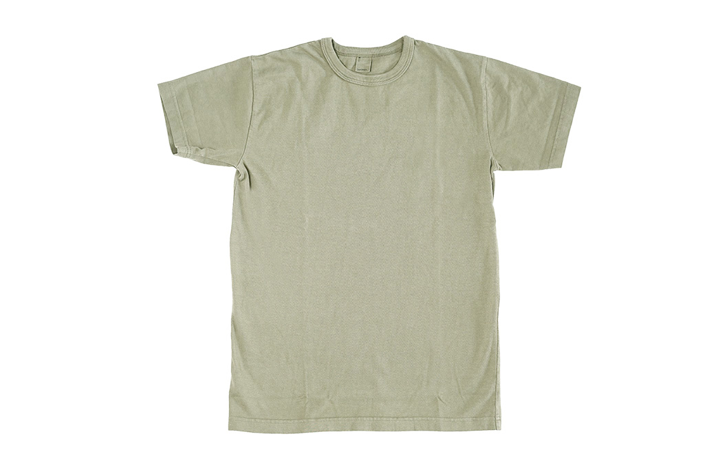 3sixteen Garment Dyed Plain T-Shirt - Military Green - Image 2