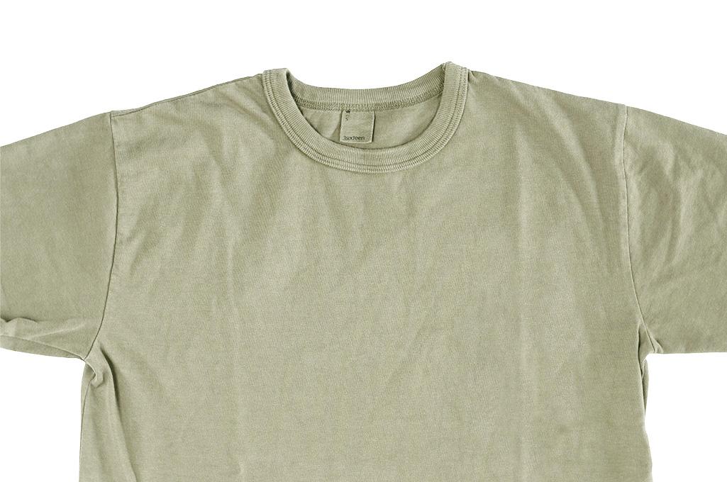3sixteen Garment Dyed Plain T-Shirt - Military Green - Image 3