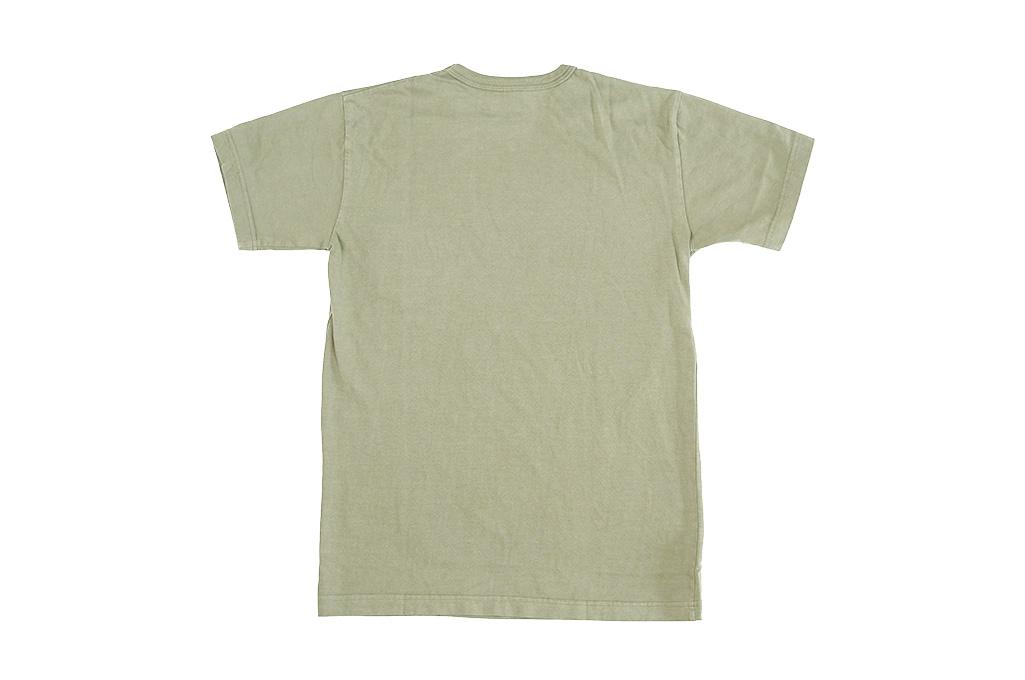 3sixteen Garment Dyed Plain T-Shirt - Military Green - Image 6