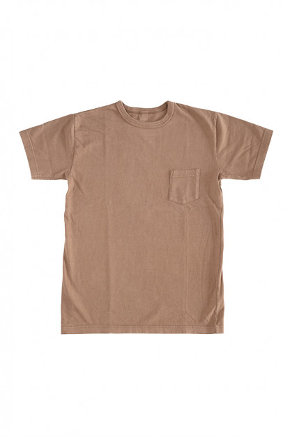3sixteen Garment Dyed Pocket T-Shirt - Clove