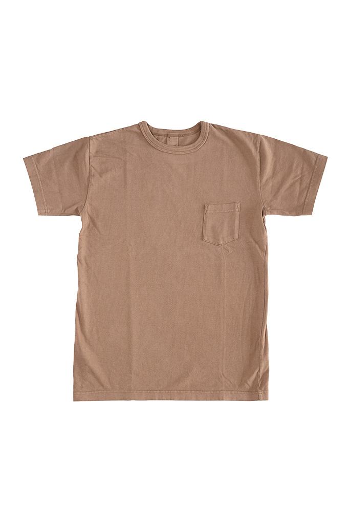 3sixteen Garment Dyed Pocket T-Shirt - Clove - Image 0