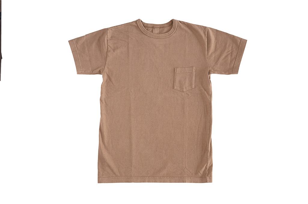 3sixteen Garment Dyed Pocket T-Shirt - Clove - Image 2