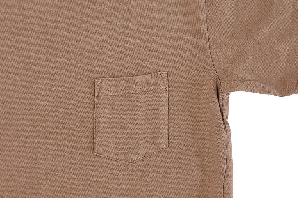 3sixteen Garment Dyed Pocket T-Shirt - Clove - Image 5