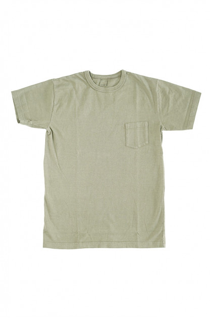 3sixteen Garment Dyed Pocket T-Shirt - Military Green