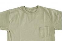 3sixteen Garment Dyed Pocket T-Shirt - Military Green - Image 3