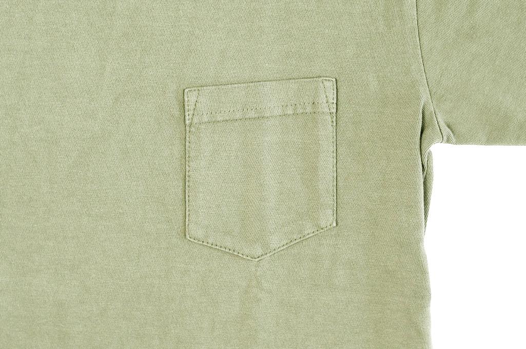 3sixteen Garment Dyed Pocket T-Shirt - Military Green - Image 5