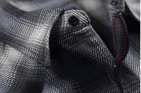 Iron Heart 9oz Selvedge Ombre Indigo Check Snap Shirt - Gray - Image 4