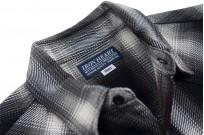 Iron Heart 9oz Selvedge Ombre Indigo Check Snap Shirt - Gray - Image 5