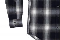Iron Heart 9oz Selvedge Ombre Indigo Check Snap Shirt - Gray - Image 6