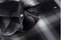 Iron Heart 9oz Selvedge Ombre Indigo Check Snap Shirt - Gray - Image 7