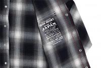 Iron Heart 9oz Selvedge Ombre Indigo Check Snap Shirt - Gray - Image 9
