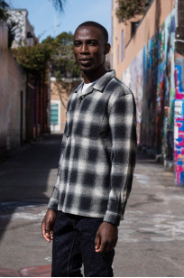 "Flat Head ""Davy"" Ombre Check Flannel - Black - Image 3"