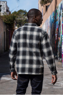 "Flat Head ""Davy"" Ombre Check Flannel - Black - Image 5"