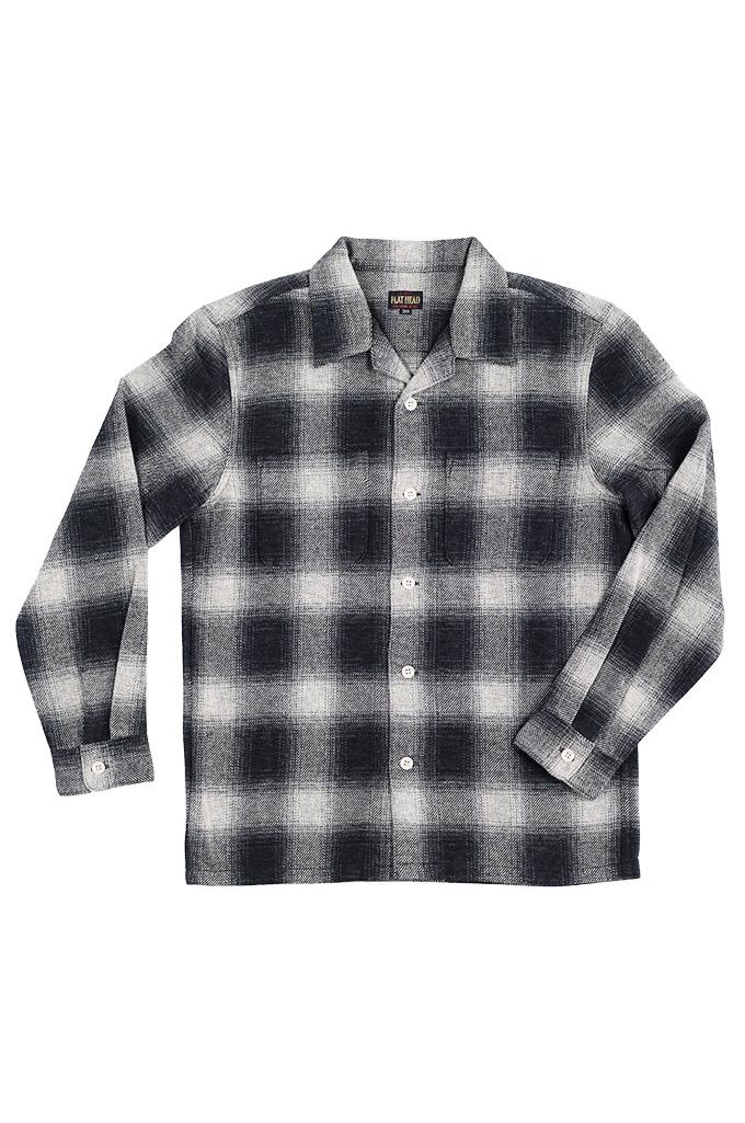 "Flat Head ""Davy"" Ombre Check Flannel - Black - Image 7"