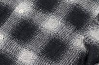 "Flat Head ""Davy"" Ombre Check Flannel - Black - Image 9"