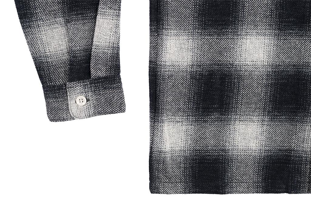 "Flat Head ""Davy"" Ombre Check Flannel - Black - Image 12"