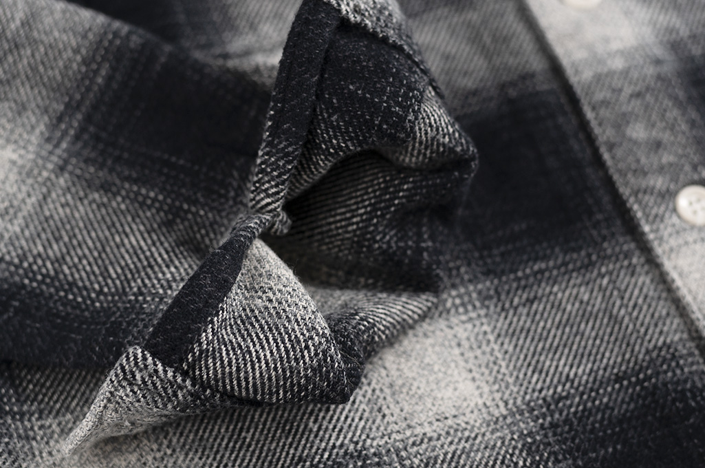 "Flat Head ""Davy"" Ombre Check Flannel - Black - Image 13"