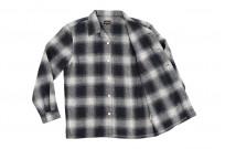 "Flat Head ""Davy"" Ombre Check Flannel - Black - Image 14"