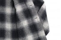 "Flat Head ""Davy"" Ombre Check Flannel - Black - Image 15"
