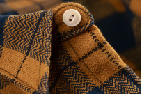 "Flat Head ""Doady"" Heavy Winter Flannel Workshirt - Orange/Navy - Image 11"